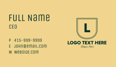 Classic Elegant Green Letter Business Card