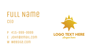 Sun Crown Business Card