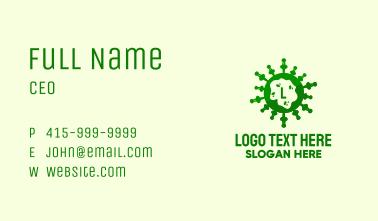 Green Virus Lettermark Business Card