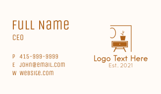 Home Furniture Shop Business Card