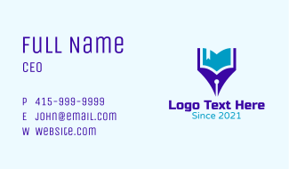 Pen Learning Book Business Card