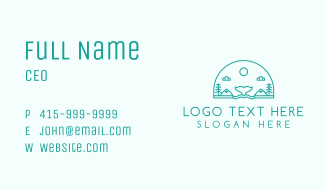 Nature Whale Travel Tour Business Card