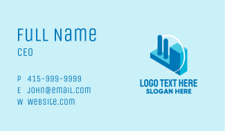 Isometric Industrial 3D Business Card