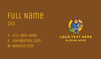 Cute Tourist Bear  Business Card