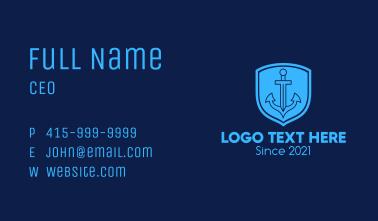 Blue Anchor Emblem  Business Card