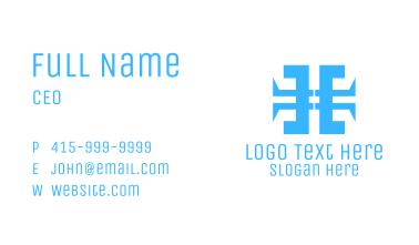 Blue Malware Letter H Business Card