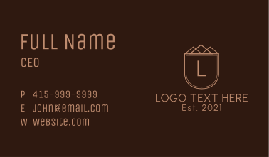Simple Pyramid Letter Business Card