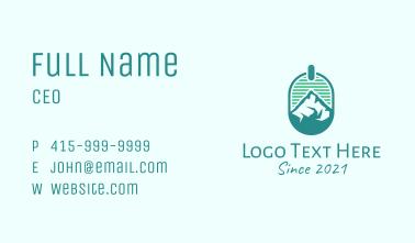 Mountain Peak Badge Business Card