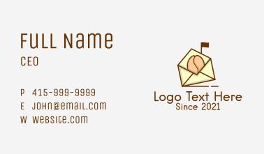 Coffee Bean Mail Business Card