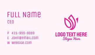 Pink Lotus Flower Business Card