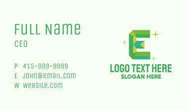 Shiny Gem Letter E Business Card