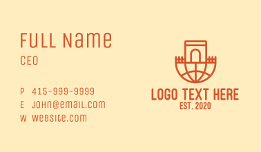 Global Castle Arch Business Card