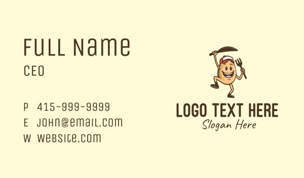 cap - Happy Egg Restaurant  Business card horizontal design