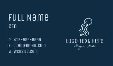 Minimalist Octopus Business Card
