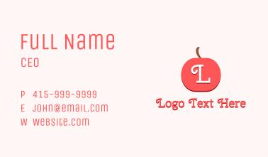 Cherry Fruit Letter Business Card