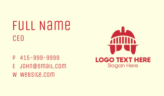 Red Lung Bridge Business Card