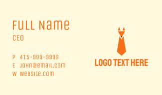 Woodland Fox Tie Business Card