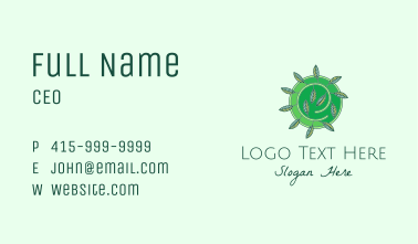 Green Eco Leaves Business Card