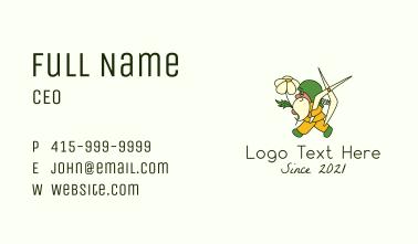 Gnome Gardener Mascot Business Card
