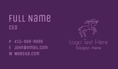 Greek Centaur Archer Business Card