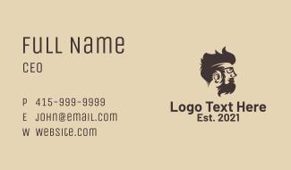 Hipster Beard Man Business Card