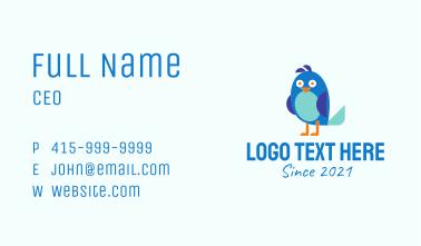 Cartoon Bird Mascot  Business Card