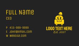 Golden Gentleman Couch  Business Card