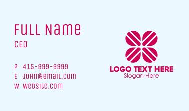 Clover Leaf Letter X Business Card