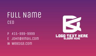 Minimalist DK Monogram Business Card