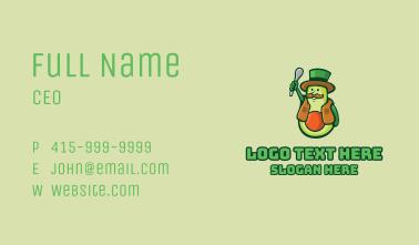 Avocado Farmer Mascot  Business Card