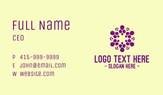 Violet Indian Spa Business Card