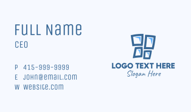 Blue Window Pane Business Card