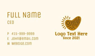 Mayan Tribal Art Business Card