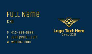 Pilot Wings Emblem Business Card