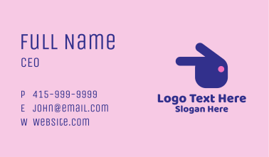 Pointing Rabbit Head  Business Card