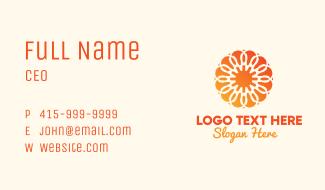 Orange Solar Flower Business Card
