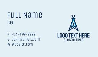 Blue Tent Letter A Business Card