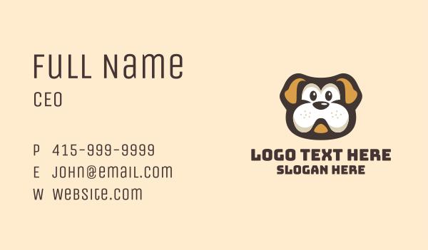 adorable - English Bulldog Dog Cartoon Business card horizontal design