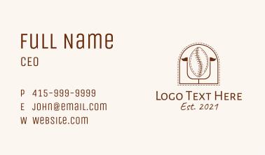 Coffee Bean Football Business Card