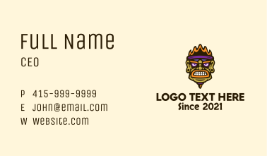 Ethnic Warrior Face Business Card