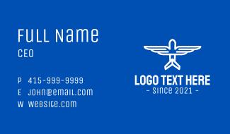 Minimalist Airplane Wings Business Card