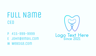 Dental Clinic Outline  Business Card