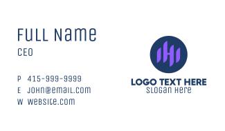 Sound Wave Letter H Business Card