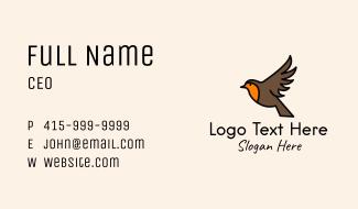Flying Sparrow Bird Business Card