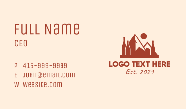 Outdoor Mountain Winery  Business Card