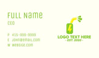 Juicy Energy Drink Business Card