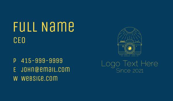 daylight - Summer Tour Photography Business card horizontal design