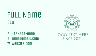 Travel Mountain Badge  Business Card