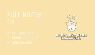 Bunny Rabbit Cracked Egg Business Card