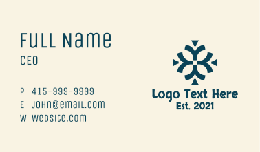 Ancient Tribal Ornament Business Card